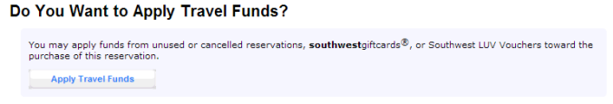 Southwest.com Reservations Apply Travel Funds