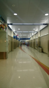 Empty hallways line the right side of Terminal A where Delta, Interjet, and AeroMexico reside.