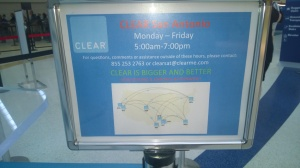 Know the hours of operation for CLEAR in your home airport.