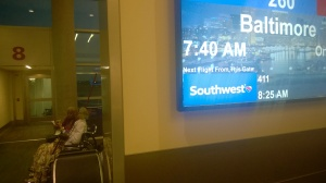 Southwest Logo on Digital Signage