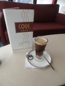 Coffee with Baileys at Cove Cafe
