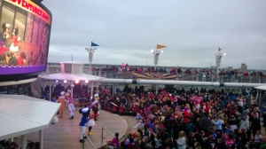 Sail Away party on the Disney Wonder